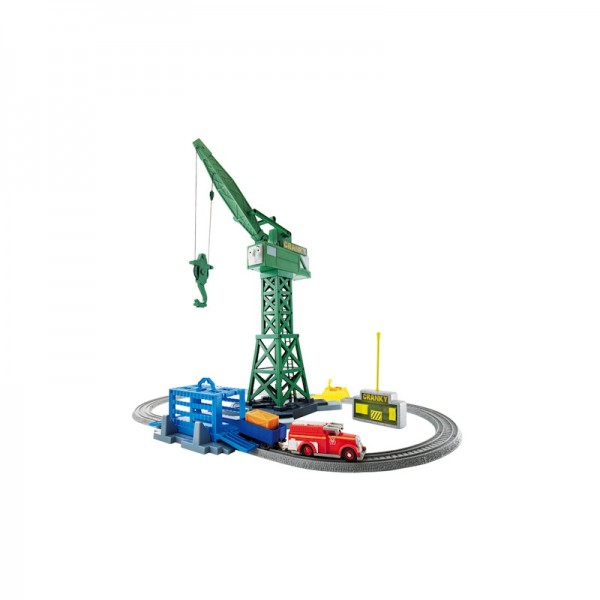 Thomas & Friends Trackmaster Cranky & Flynn Save the Day: Fire truck + rescue crane; $59.99