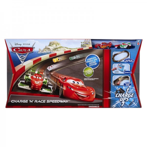 Disney Cars 2 Charge Ups Charge 'N' Race Speedway: Motorized car track set; $49.99