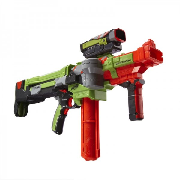 Nerf Vortex Nitron: Blast discs toward targets at extreme range for an all-on assault; $44.99