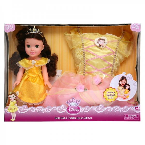 Disney My First Princess: Belle Doll and Toddler Dress Gift Set: Feel like a princess; $34.99