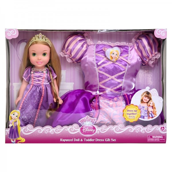 Disney My First Princess: Repunzel Doll and Toddler Dress Gift Set: Feel like a princess; $34.99