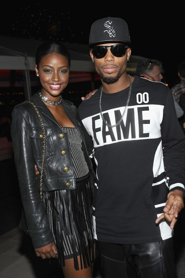 Recording artists Justine Skye and B.o.B.