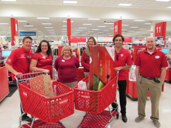 Scott and Dario with the helpful Target Team