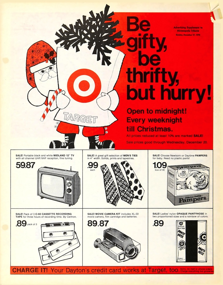 vintage ads from targets holiday history