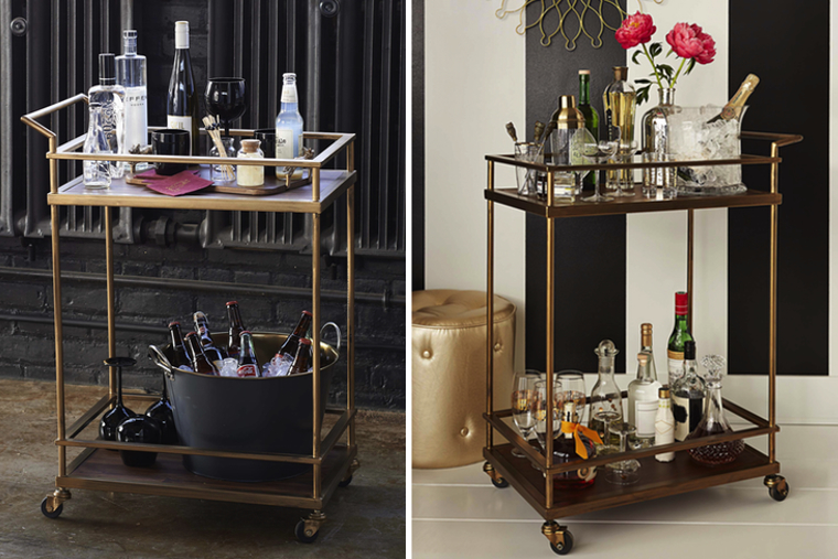 Happy Hour: Styling the Perfect Home Bar Cart