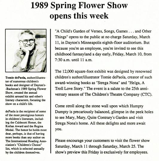 Dayton's Flower Show 1989