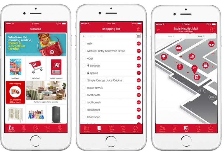 target has lots in store the app store that is for guests this fall