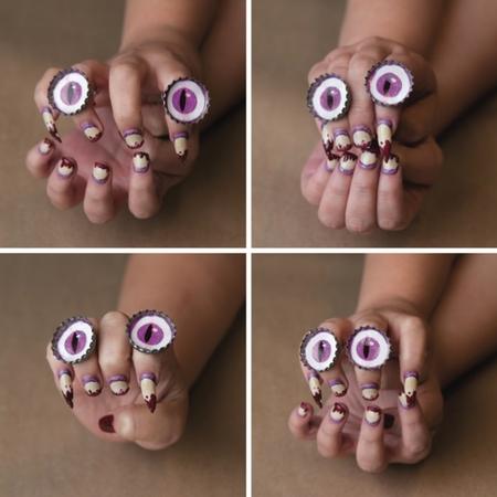 halloween zombie eye makeup