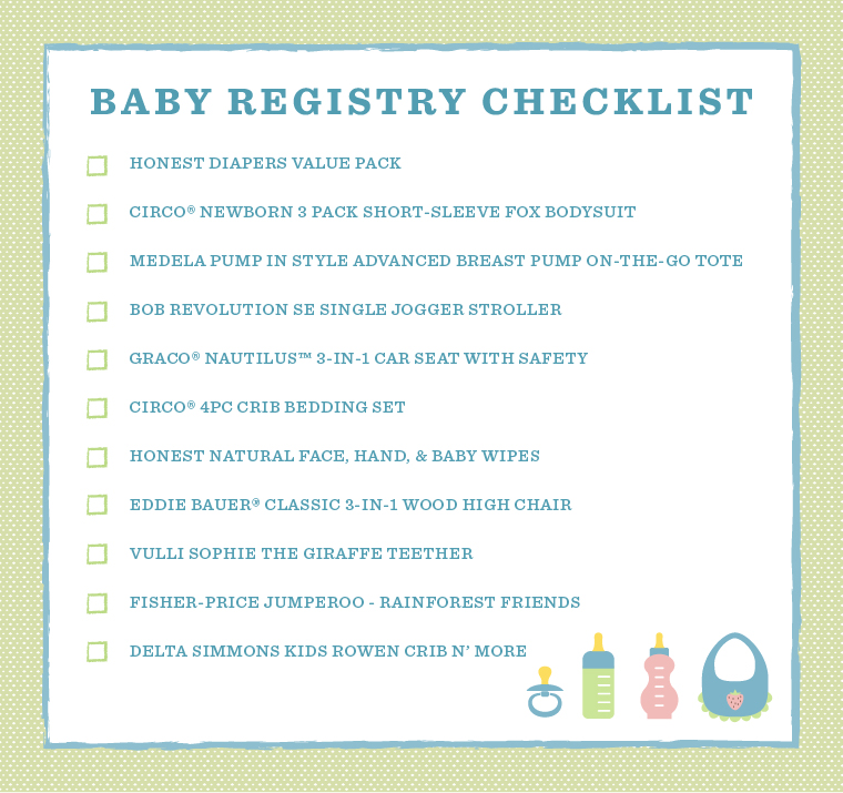 USD20 Target Gift Card With Wedding Registry 2015 : Baby Registry Checklist: Shop Satcha Pretto?s Must Have Picks
