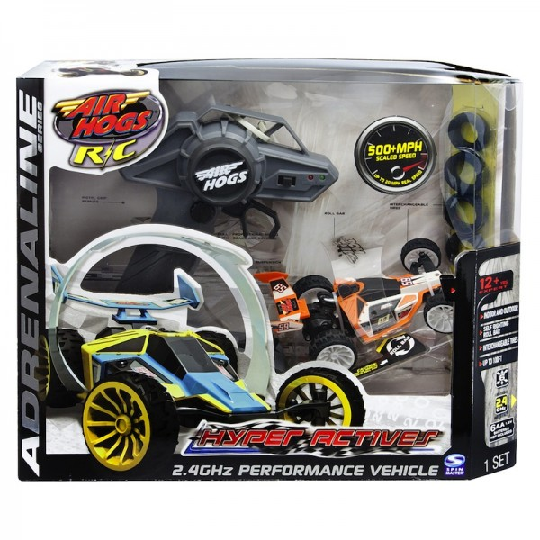 Air Hogs Hyperactives RC Vehicle: Racecar with enhanced speed + performance; $39.99