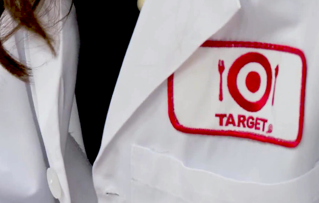 A Target Test Kitchen lab coat