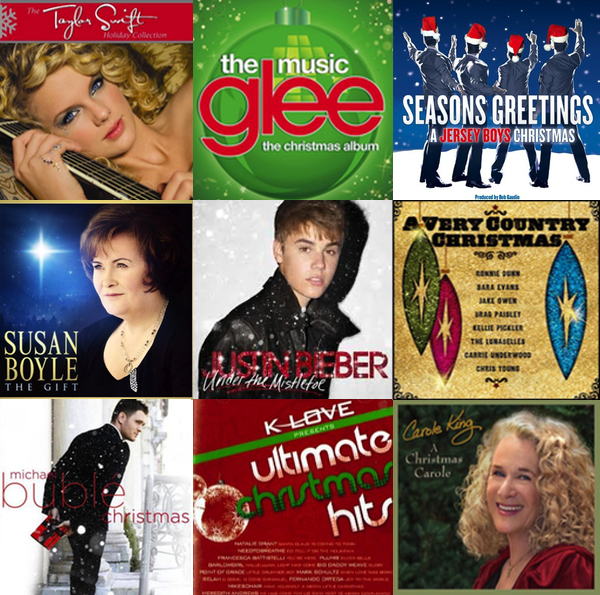 Holiday music playlist graphic