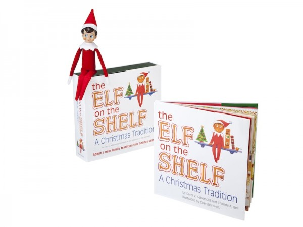 "Elf on the Shelf Book: A new family tradition! Kids can ""adopt"" an elf; $29.95"