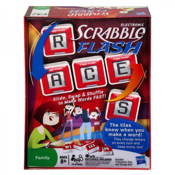 Scrabble Flash: Challenge vocab with the electronic twist on the classic game; $19.89