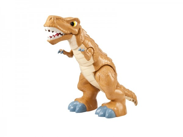 Imaginext T-Rex: Dinosaur with motorized action, removable armor + sound effects; $42.99