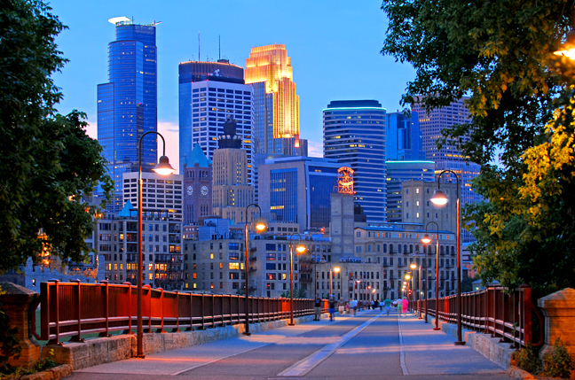 Minneapolis - Stone Arch & Skyline night