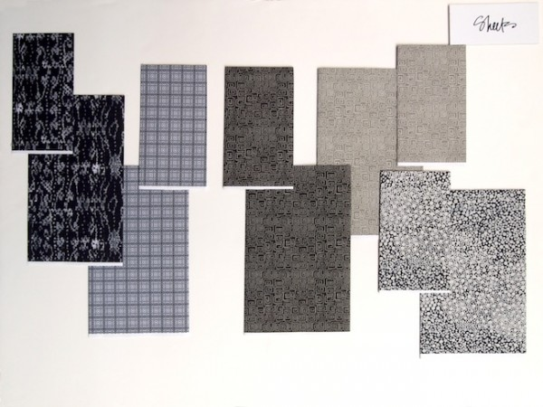 Fabric swatches from Thomas O'Brien's studio
