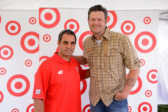Juan Pablo Montoya and Blake Shelton