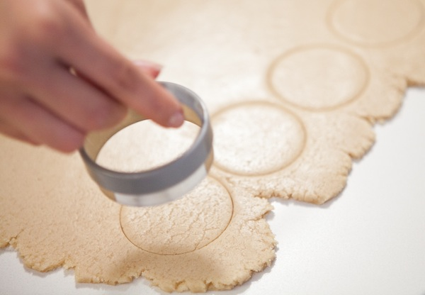 Use the cookie cutter to make perfect circles