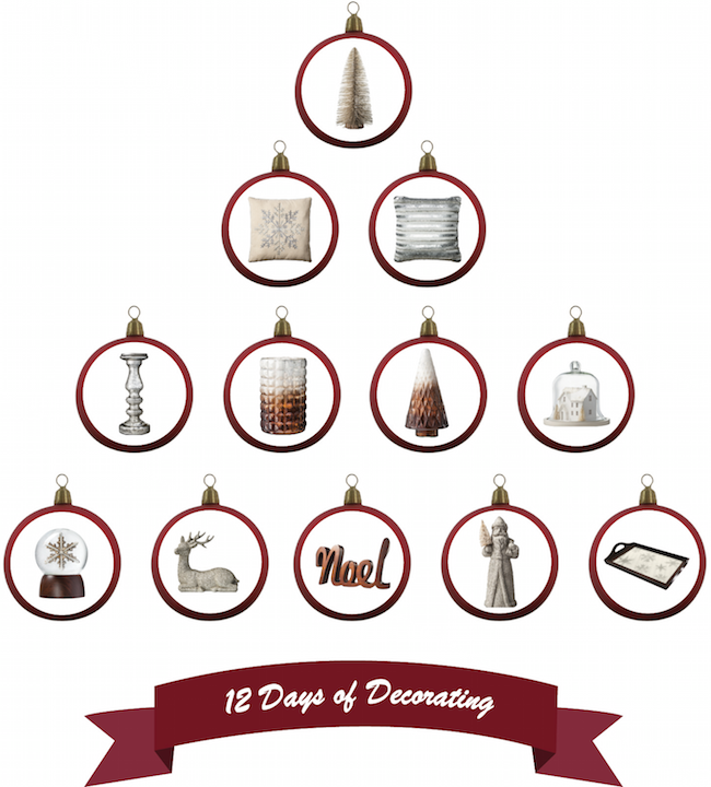 12 Days Of Decorating Gilded Noel Collection