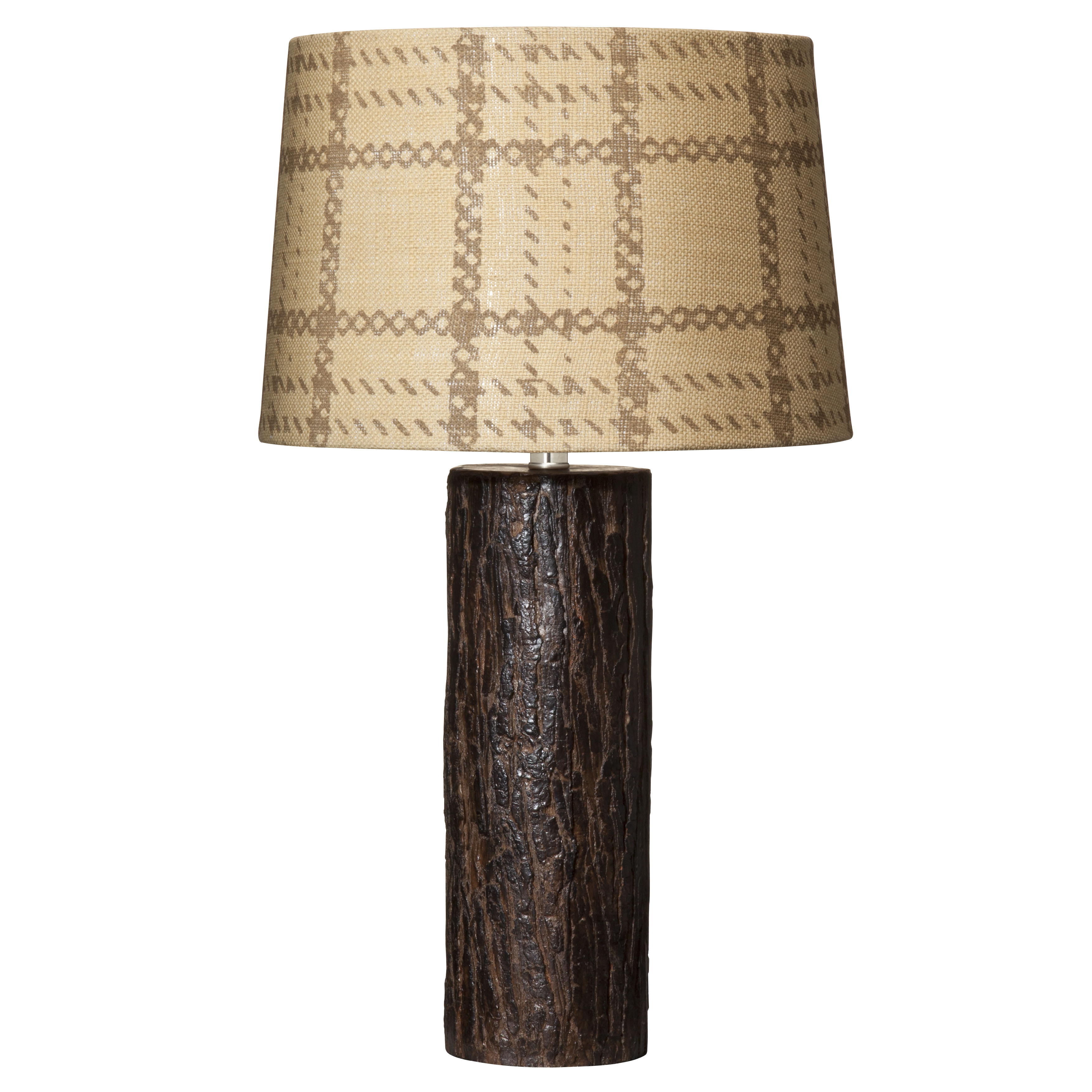 221201 Target Home Plaid Burlap Shade And Wooden Lamp Base