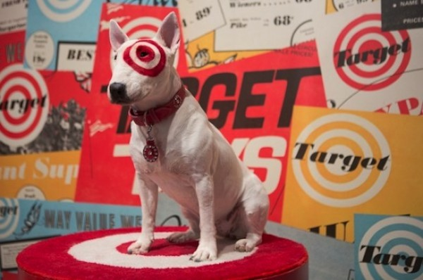 Collar cam bullseye s day out What kind of dog is the target mascot