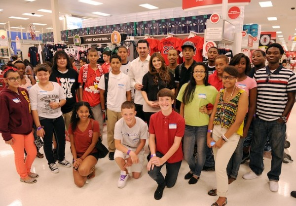 Red Sox Scholars Shop with Adrian Gonzalez