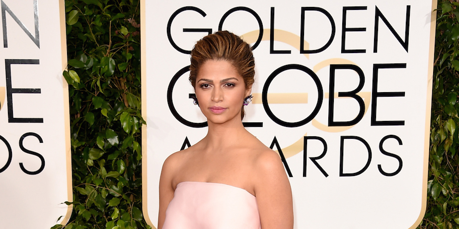 Camila Alves wore Target lip color to the 2015 Golden Globes