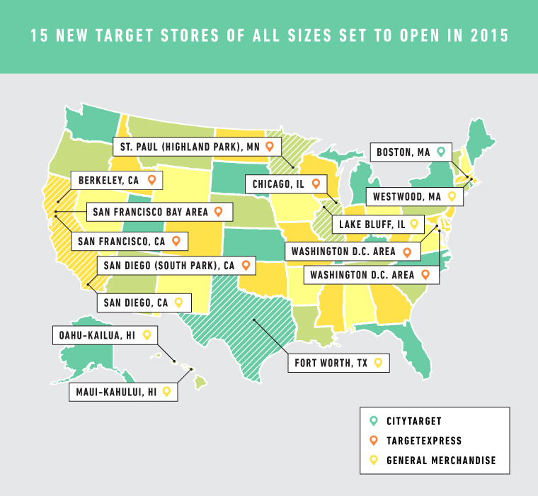 Target Store Map From the East Coast to Hawaii, 15 New Target Stores of All Sizes