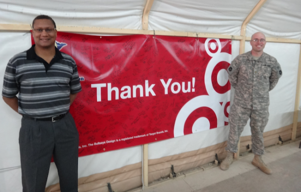 Marvin Hamilton + Major Paul Rickert, a deployed Group Leader for Target