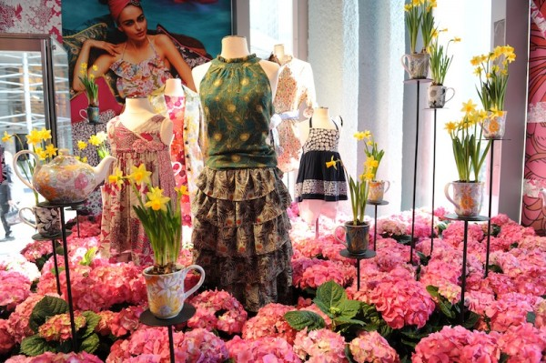 2010 - Flowers galore at the Liberty of London for Target pop-up store in NYC