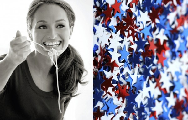 In the Kitchen: A Fourth of July Menu by Giada De Laurentiis Giada At Home Set Design on giada's kitchen set, iron chef america set, cutthroat kitchen set, giada's canister set,