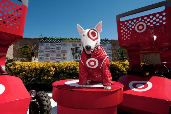 Woof say hello to bullseye target s canine companion What kind of dog is the target mascot